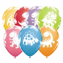 Cute & Cuddly Dinosaurs - 11 Inch Balloons 25pcs
